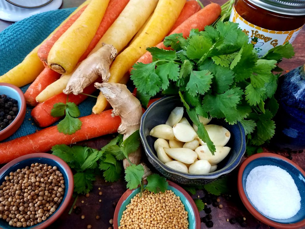 Coriander and Ginger Pickled Carrots